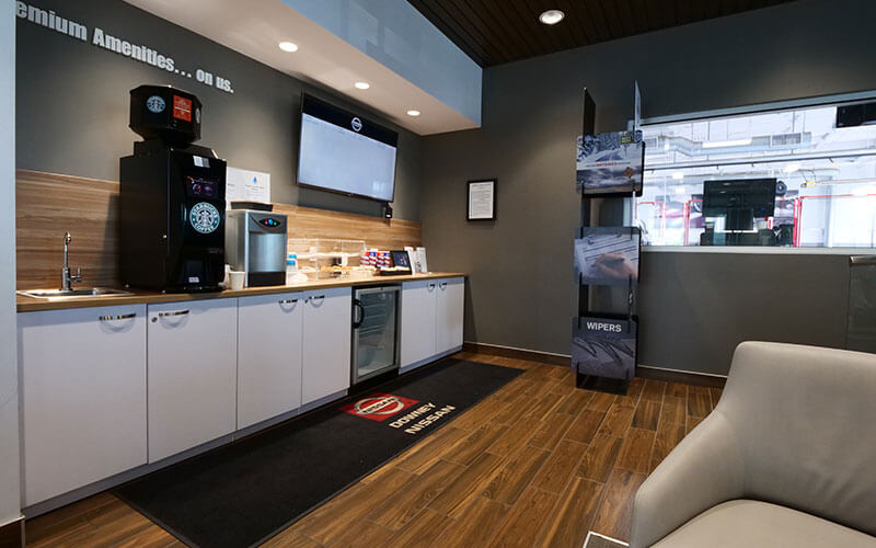 Nissan Service Lounge Amenities